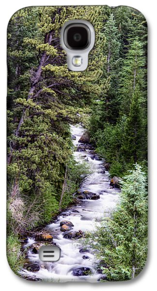 Snow Melt Galaxy S4 Cases - Forest Cascade Galaxy S4 Case by The Forests Edge Photography - Diane Sandoval