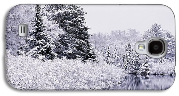 Trees Reflecting In Water Galaxy S4 Cases - Forest Covered With Snow Galaxy S4 Case by Rod Planck