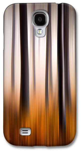 Dreamscape Galaxy S4 Cases - Forest Essence Abstract Autumn Landscape Galaxy S4 Case by Dave Allen