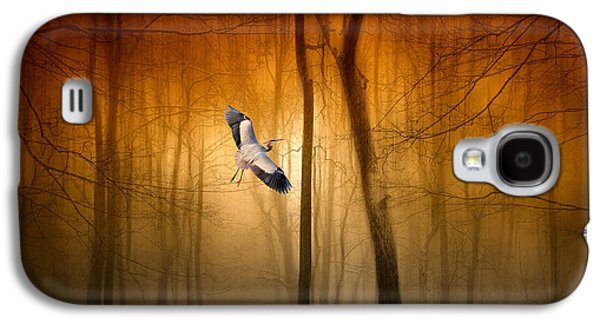Nature Abstract Galaxy S4 Cases - Forest Flight Galaxy S4 Case by Jessica Jenney
