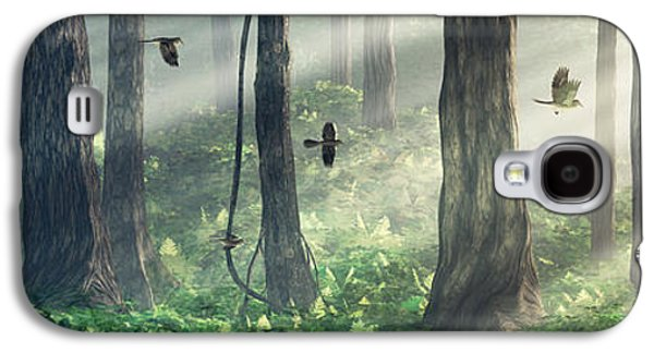 Light Galaxy S4 Cases - Forest Light Galaxy S4 Case by Cynthia Decker