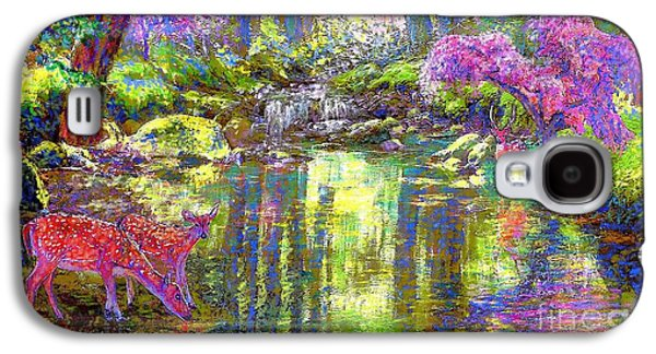 Day Paintings Galaxy S4 Cases - Forest of Light Galaxy S4 Case by Jane Small