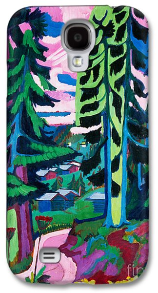 Expressionism Galaxy S4 Cases - Forest Path in Summer Galaxy S4 Case by Ernst Ludwig Kirchner