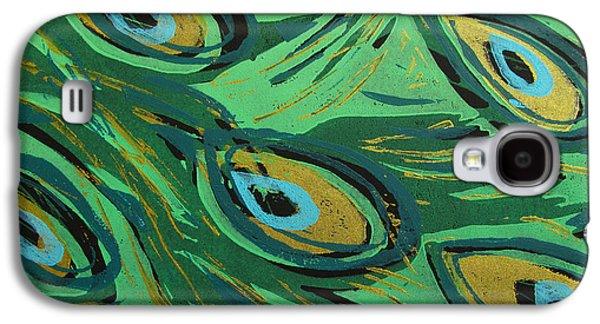 Forest Peacock Galaxy S4 Case by Jennifer Schwab