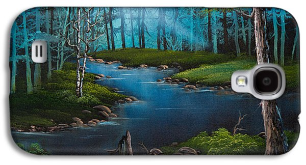 Bob Ross Paintings Galaxy S4 Cases - Moonlit River Galaxy S4 Case by C Steele