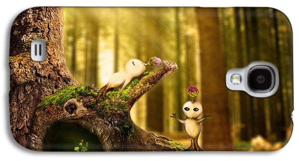 Animation Paintings Galaxy S4 Cases - Forest Spirits Galaxy S4 Case by Sally Chan