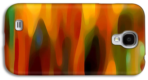 Abstract Movement Galaxy S4 Cases - Forest Sunlight Horizontal Galaxy S4 Case by Amy Vangsgard