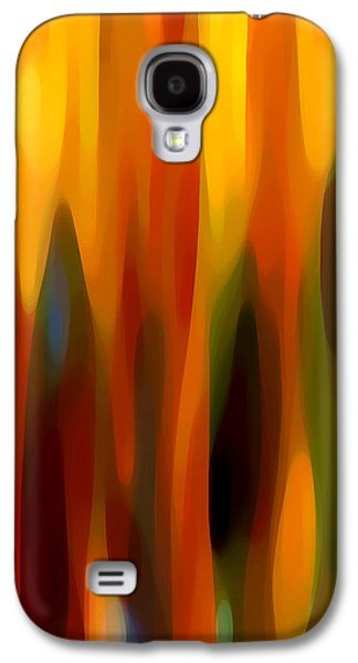 Abstract Movement Galaxy S4 Cases - Forest Sunlight Vertical Galaxy S4 Case by Amy Vangsgard