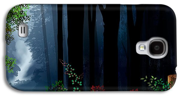Digital Design Galaxy S4 Cases - Forest Trail Galaxy S4 Case by Bedros Awak
