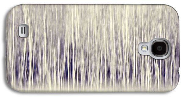 Forest Trees Abstract In Blue Ginger Galaxy S4 Case by Natalie Kinnear