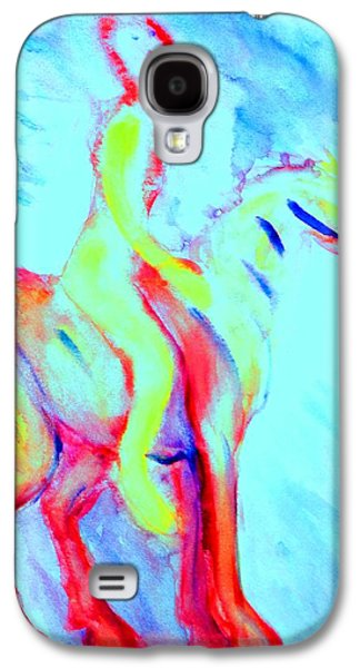 Component Paintings Galaxy S4 Cases - Forever riding my little pony Galaxy S4 Case by Hilde Widerberg