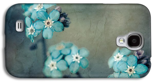 Texture Floral Galaxy S4 Cases - Forget Me Not 01 - s22dt06 Galaxy S4 Case by Variance Collections