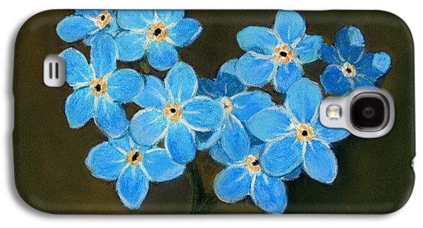 Drawing Galaxy S4 Cases - Forget-Me-Not Galaxy S4 Case by Anastasiya Malakhova