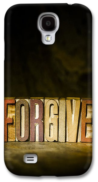 Self-improvement Galaxy S4 Cases - FORGIVE Antique Letterpress Printing Blocks Galaxy S4 Case by Donald  Erickson