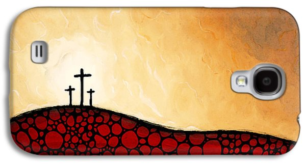 The Church Mixed Media Galaxy S4 Cases - Forgiven - Christian Art By Sharon Cummings Galaxy S4 Case by Sharon Cummings