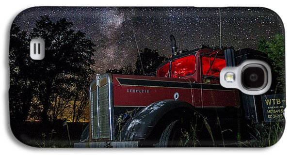 Creepy Galaxy S4 Cases - Forgotten Big Rig night version Galaxy S4 Case by Aaron J Groen