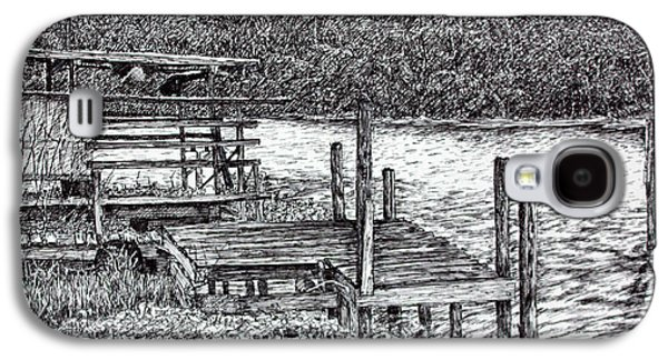 Shed Drawings Galaxy S4 Cases - Forgotten Dock Galaxy S4 Case by Janet Felts