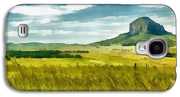 Autumn Landscape Digital Art Galaxy S4 Cases - Forgotten Fields Galaxy S4 Case by Ayse Deniz