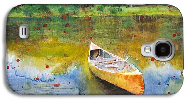 Canoe Mixed Media Galaxy S4 Cases - Forgotten Memories Galaxy S4 Case by Susan Powell