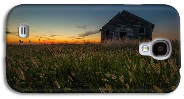 School Houses Galaxy S4 Cases - Forgotten on the Prairie Galaxy S4 Case by Aaron J Groen