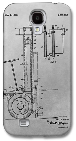 Industrial Drawings Galaxy S4 Cases - Forklift Patent Drawing Galaxy S4 Case by Dan Sproul