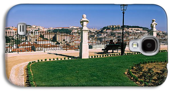 Garden Scene Galaxy S4 Cases - Formal Garden In A City, Alfama Galaxy S4 Case by Panoramic Images