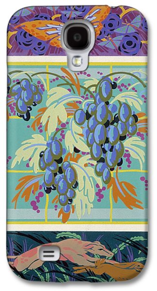 Grapes Art Deco Galaxy S4 Cases - Formes et couleurs Galaxy S4 Case by Auguste H Thomas