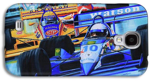 Kids Sports Art Galaxy S4 Cases - Formula 1 Race Galaxy S4 Case by Hanne Lore Koehler