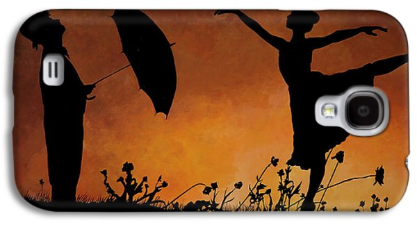 Rain Paintings Galaxy S4 Cases - Forse Non Piove Galaxy S4 Case by Guido Borelli