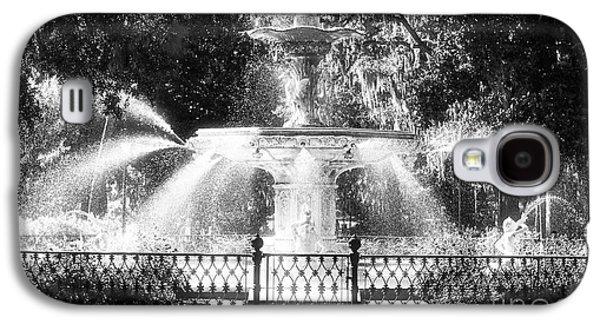 Monotone Galaxy S4 Cases - Forsyth Park Fountain Galaxy S4 Case by John Rizzuto