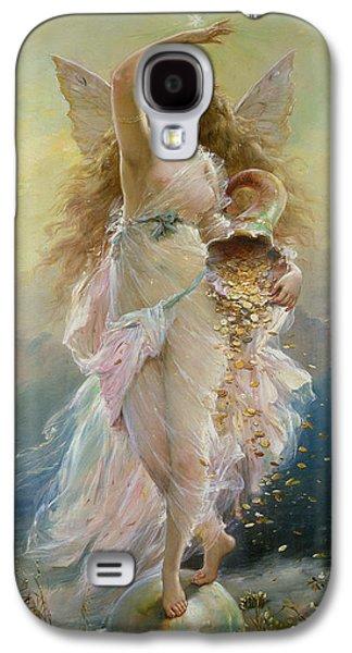 Goddess Paintings Galaxy S4 Cases - Fortuna Galaxy S4 Case by Jean Francois Armand Felix Bernard
