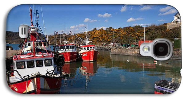 Fishing Village Galaxy S4 Cases - Foshing Boats In The Harbour Galaxy S4 Case by Panoramic Images