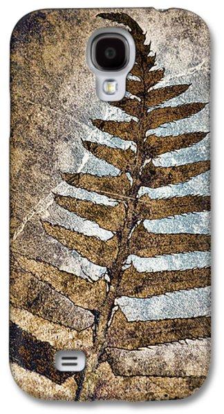 Diagonal Galaxy S4 Cases - Fossilized Fern Galaxy S4 Case by Carol Leigh