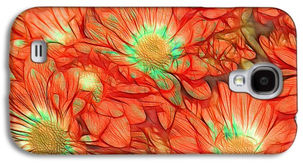 Orange Digital Art Galaxy S4 Cases - Foulee de Petales - tuf011o2t Galaxy S4 Case by Variance Collections