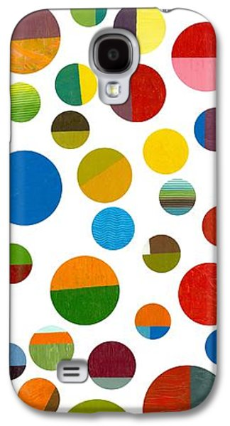 Colorful Abstract Galaxy S4 Cases - Found My Marbles 2.0 Galaxy S4 Case by Michelle Calkins