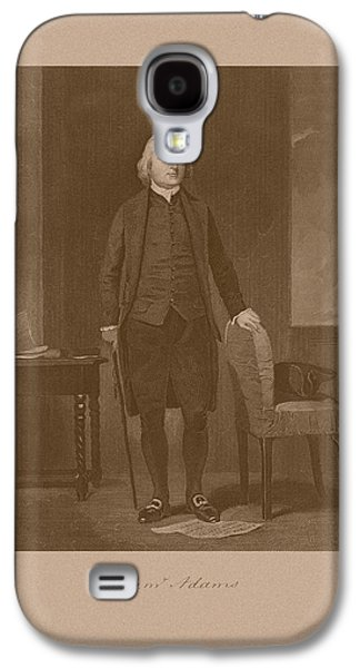 Revolutionary War Mixed Media Galaxy S4 Cases - Founding Father Samuel Adams Galaxy S4 Case by War Is Hell Store