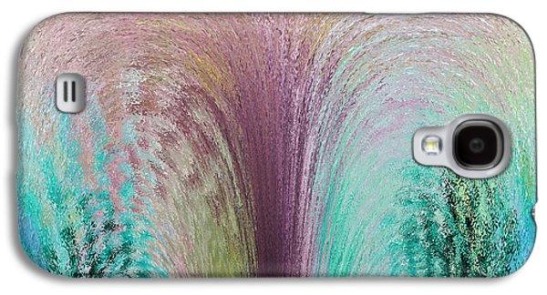 Abstract Fountain Galaxy S4 Cases - Fountain Art Galaxy S4 Case by David Pyatt