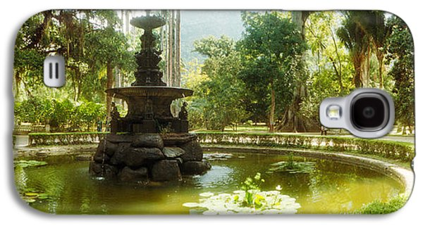 Garden Scene Galaxy S4 Cases - Fountain In A Botanical Garden, Jardim Galaxy S4 Case by Panoramic Images