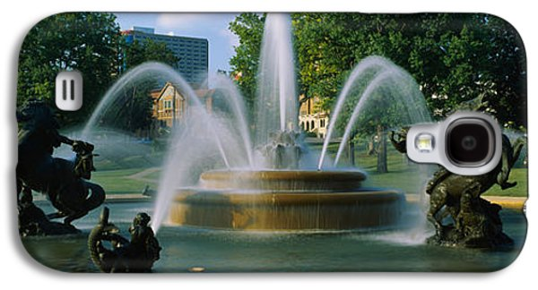 Garden Scene Galaxy S4 Cases - Fountain In A Garden, J C Nichols Galaxy S4 Case by Panoramic Images