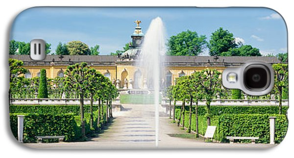 Garden Scene Galaxy S4 Cases - Fountain In A Garden, Potsdam, Germany Galaxy S4 Case by Panoramic Images