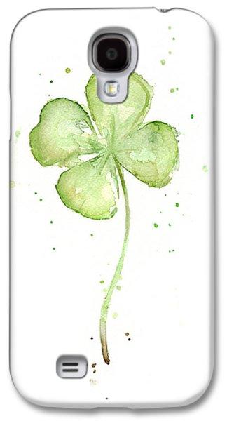 Four Leaf Clover Lucky Charm Galaxy S4 Case by Olga Shvartsur