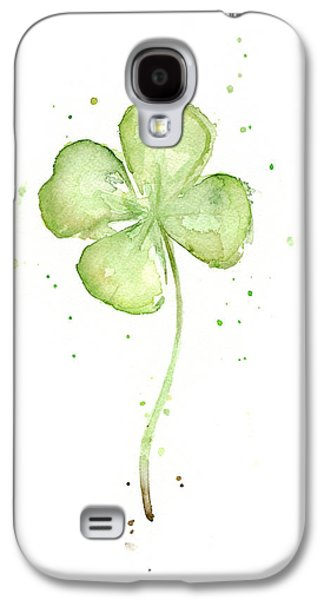 Illustration Paintings Galaxy S4 Cases - Four Leaf Clover Lucky Charm Galaxy S4 Case by Olga Shvartsur