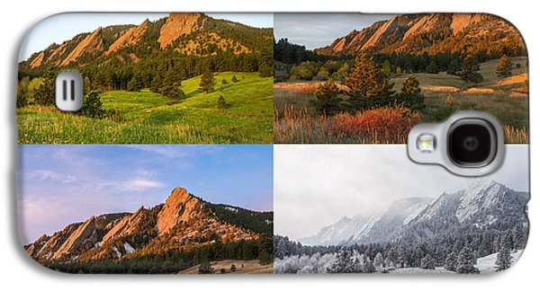 Landscape With Mountains Galaxy S4 Cases - Four Seasons - The Flatirons Galaxy S4 Case by Aaron Spong