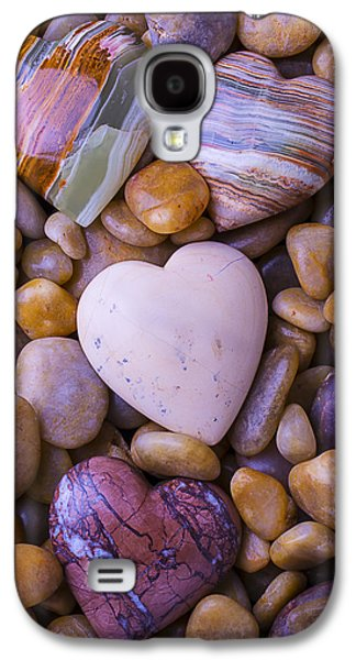 Solid Galaxy S4 Cases - Four Stone hearts Galaxy S4 Case by Garry Gay