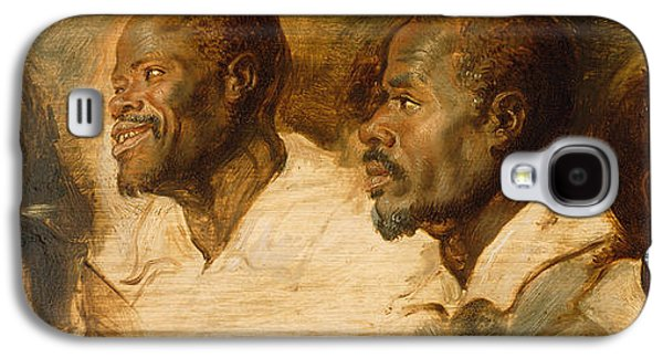 Black Man Galaxy S4 Cases - Four Studies of Male Head Galaxy S4 Case by Peter Paul Rubens