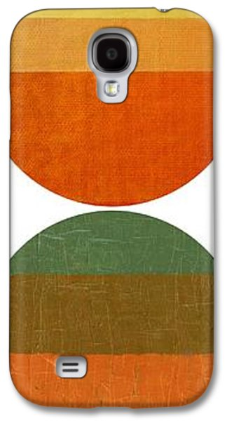 Modern Abstract Galaxy S4 Cases - Four Suns Setting Galaxy S4 Case by Michelle Calkins