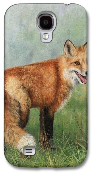Red Fox Galaxy S4 Cases - Fox  Galaxy S4 Case by David Stribbling
