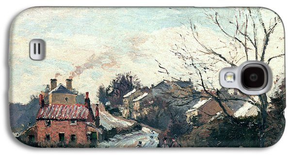 Winter Road Scenes Galaxy S4 Cases - Fox Hill Upper Norwood Galaxy S4 Case by Camille Pissarro