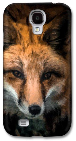 Fox Digital Galaxy S4 Cases - Fox Portrait Galaxy S4 Case by Ernie Echols