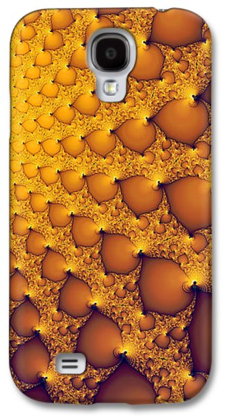 Abstract Digital Photographs Galaxy S4 Cases - Fractal artwork golden and yellow abstract Galaxy S4 Case by Matthias Hauser
